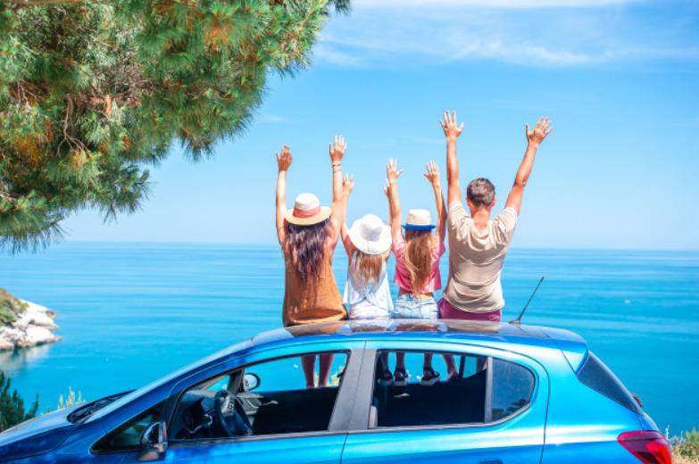 Family car holiday